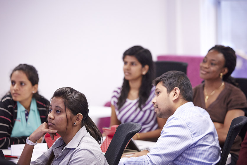 Sheffield Hallam international students attending a seminar