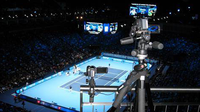 3D video analysis in use during a tennis match
